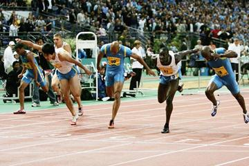 Ladji Doucouré of France wins the 110m Hurdles in Paris Golden League (Getty Images)