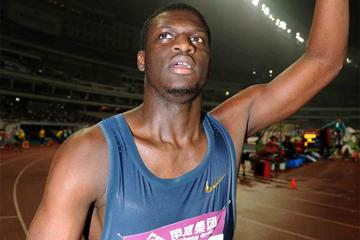 Kirani James after running 44.02 to win the 400m at the Shanghai Diamond League (Jiro Mochizuki)