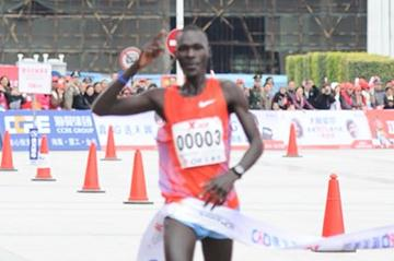 2:07:37 course record and personal best for Kenya's Peter Kamais in the 2012 Xiamen Marathon (Xiamen organisers)