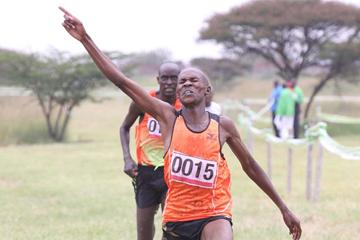 David Kogei wins at the Kenya's 2013 Administrative Police Cross Country Championships  (Stafford Ondego - The Standard)