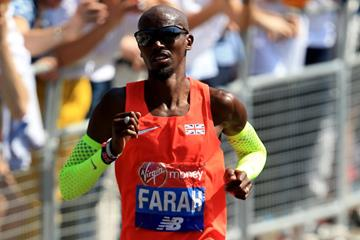 Mo Farah in action during the London Marathon (Getty Images)