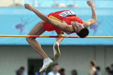 Haiqiang Huang of China during the qualifying round of the men's High Jump (Getty Images)