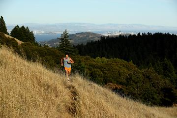 Ultramarathon runner Dean Karnazes training in California's Mount Tamalpais State Park which recently reopened after being closed for months due to the coronavirus. (Getty Images)