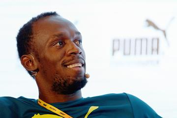 Usain Bolt ahead of the IAAF World Championships, Beijing 2015 (Getty Images)
