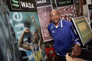 Frank Fredericks at the WADA Outreach Programme in Helsinki (Getty Images)