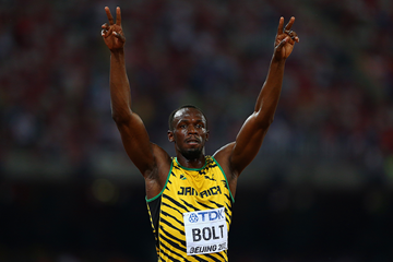 100m winner Usain Bolt at the IAAF World Championships Beijing 2015 (Getty Images)