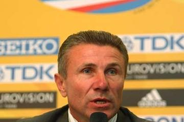 IAAF Senior Vice-President Sergey Bubka during the Press Conference (Getty Images)