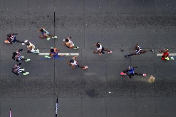 Athletes in action at the London Marathon (AFP/Getty Images)