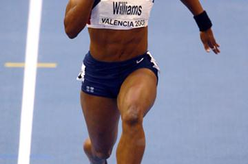 Angela Williams in the 60m at the IAAF World Indoor Championships (Getty Images)