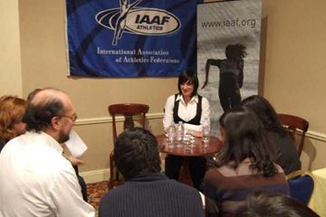 2007 World Athletics Gala - Press meet with Yelena Isinbayeva (IAAF)
