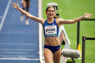 Gesa Felicitas Krause winning the ISTAF 2000m steeplechase (organisers)