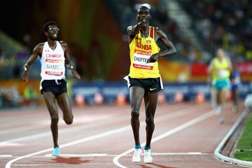Joshua Cheptegei wins the 10,000m at the Commonwealth Games (Getty Images)