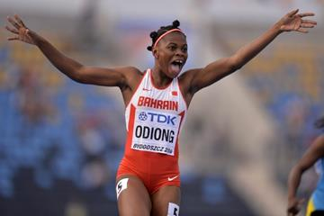 Edidiong Ofnime Odiong wins the 200m at the IAAF World U20 Championships Bydgoszcz 2016 (Getty Images)