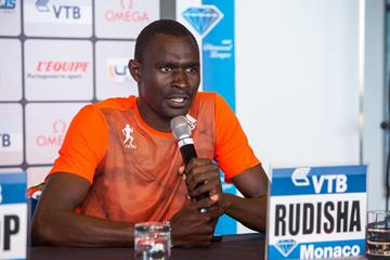 David Rudisha ahead of the IAAF Diamond League meeting in Monaco (Philippe Fitte)