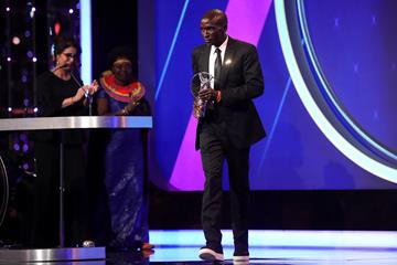 Eliud Kipchoge receives the Laureus Exceptional Achievement award (Getty Images)