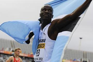 Nijel Amos of Botswana celebrates after winning the Men's 800 metres Final on day six of the 14th IAAF World Junior Championships (Getty Images)
