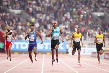 Steven Gardiner powers to the 400m title at the IAAF World Championships Doha 2019 (Getty Images)