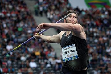 Andreas Hofmann in action in the javelin at the ISTAF meeting in Berlin (Bongarts / Getty Images)