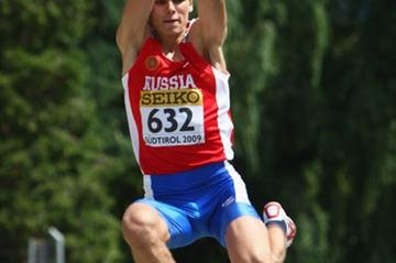 Maksim Fayzulin of Russia during the Octathlon Long Jump (Getty Images)