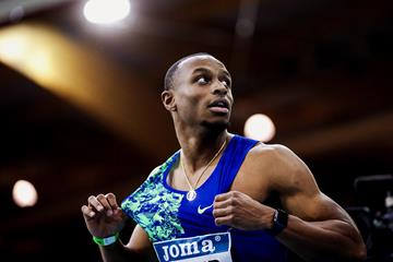 USA's Ronnie Baker at the World Athletics Indoor Tour meeting in Madrid (Dan Vernon)