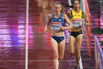 Courtney Frerichs in the steeplechase at the IAAF World Championships London 2017 (AFP / Getty Images)