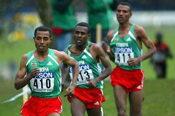 Bekele leads the Ethiopian trio to triumph (Getty Images)