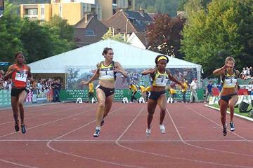Kim Gevaert takes 100m victory in Liège (Nadia Verhoft)