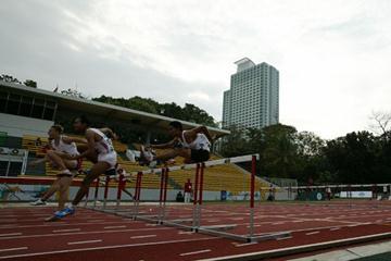 The men's 110m Hurdles final at te Asian Junior Championships in Jakarta (organisers)