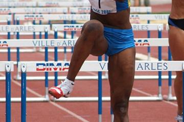 A sensational Eunice Barber clocks 12.62w in the 100m of Arles' Heptathlon (Lorenzo Sampaolo)