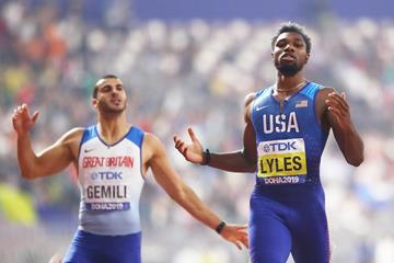 Noah Lyles wins the 200m at the IAAF World Athletics Championships Doha 2019 (Getty Images)