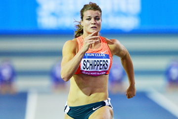 Dafne Schippers at the 2016 Glasgow Indoor Grand Prix (Getty Images)