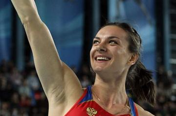 Elena Isinbaeva of Russia celebrates as she wins gold in the Women's Pole Vault Final during day three - WIC Istanbul (Getty Images)