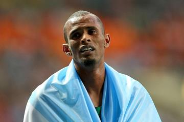 Ayanleh Souleiman after winning the 2013 IAAF World Championships 800m bronze medal (Getty Images)