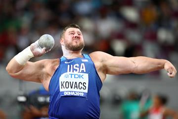 Joe Kovacs throws 22.91m to take the shot put title - IAAF World Athletics Championships Doha 2019 (Getty Images)