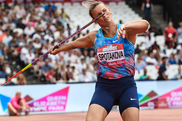 Barbora Spotakova in the javelin at the IAAF Diamond League meeting in London (Errol Anderson)