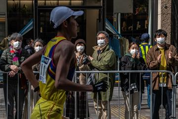 A runner in action at the Tokyo Marathon (Getty Images)