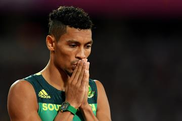 Wayde van Niekerk at the World Championships London 2017 (AFP / Getty Images)