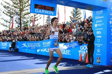 Yuta Shitara wins the Gold Coast Marathon (Organisers)