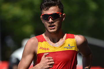Manuel Bermudez in action at the IAAF World Race Walking Team Championships Rome 2016 (Getty Images)