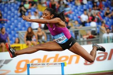 Lashinda Demus en route to her Diamond League win in Rome (Giancarlo Colombo)