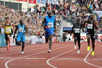 Usain Bolt edges Asafa Powell in Oslo (Mark Shearman)