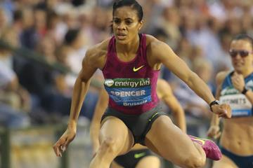 Kaliese Spencer at the 2014 IAAF Diamond League final in Brussels (Gladys von der Laage)