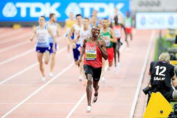 Timothy Cheruiyot storms to the 1500m title at the IAAF World Championships Doha 2019 (Getty Images)