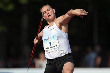 Barbora Spotakova in action in Kladno (Pavel Lebeda/organisers)