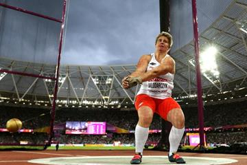 Anita Wlodarczyk spinning to gold at the IAAF World Championships London 2017 (Getty Images)