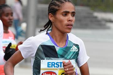 Shuko Genemo in the 2016 Vienna City Marathon (Organisers / Victah Sailer)