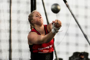 Hammer thrower Lauren Bruce (Alisha Lovrich)