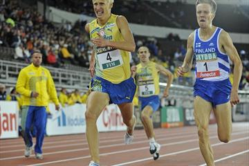 Swede Oscar Käck battles with Finn Matti Räsänen in the 5000m (DECA Text&Bild)