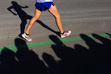 An athlete in action at the IAAF World Race Walking Cup (Getty Images)
