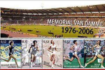 Memorial Van Damme stamps (Belgian Mail)